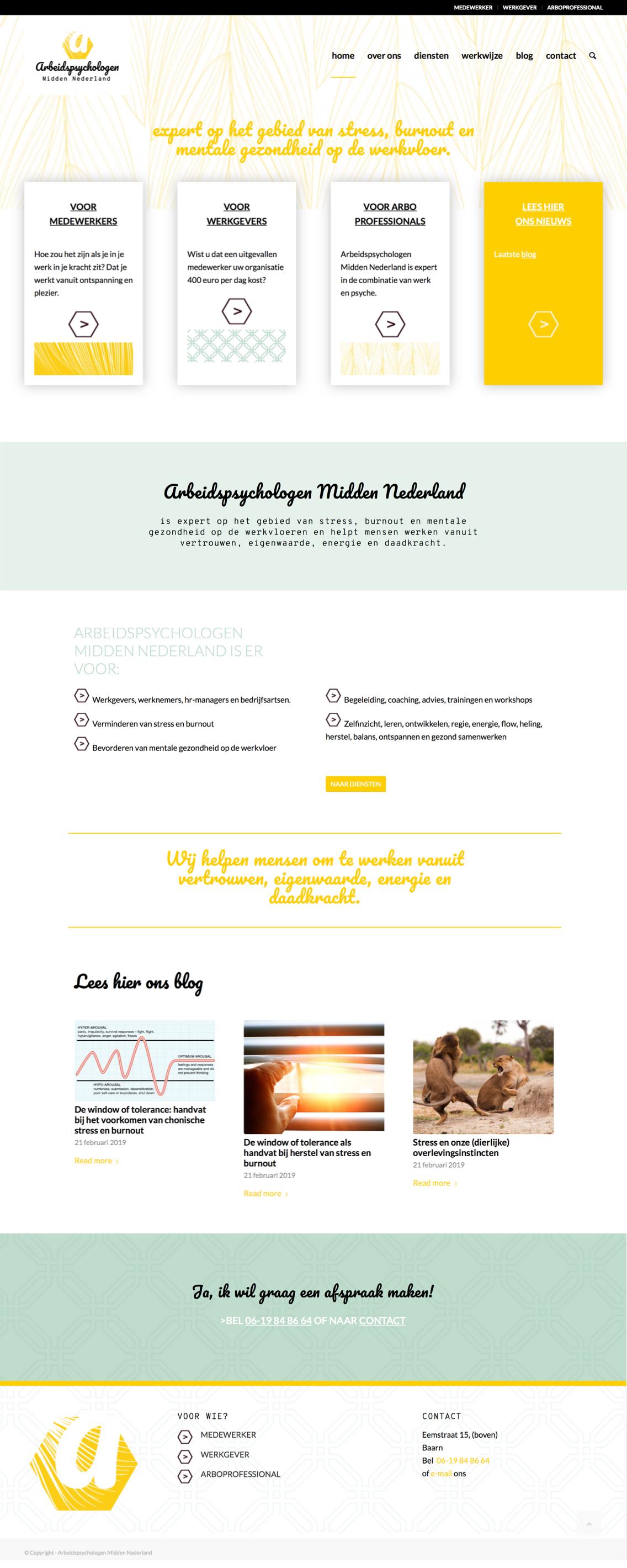 Arbeidspsychologen Midden Nederland Homepagina