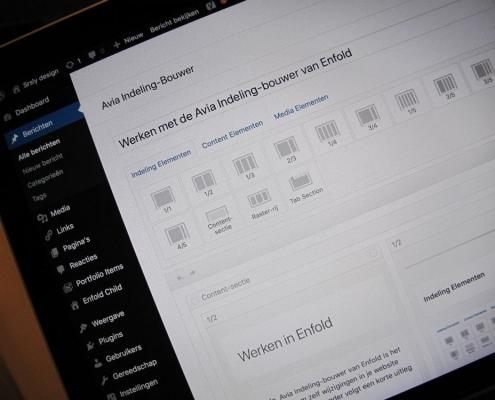 Avia Indeling-bouwer van WordPress Enfold